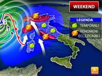 Meteo: WEEKEND, Forte Guasto tra Sabato 19 e Domenica 20, Possibili Fenomeni Eccezionali. Ecco i Dettagli