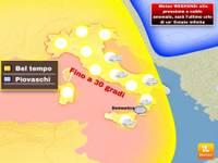 Meteo WEEKEND: caldo anomalo, sarà l'ultimo urlo di un' Estate infinita sia Sabato che Domenica