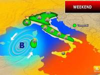 Meteo: WEEKEND, Sabato 24 e Domenica 25 con Temporali a Ripetizione. Ecco le Regioni a Rischio Pioggia