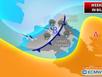 Meteo: WEEKEND in BILICO! Tra SABATO e DOMENICA si attendono PIOGGE e pure TEMPORALI. Vediamo DOVE