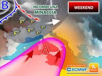 Meteo WEEKEND: incombe una MINACCIA sull'ITALIA. Ci sono IMPORTANTI NOVITA' per SABATO 7 e DOMENICA 8
