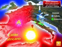 METEO WEEKEND: ultimo caldo africano, poi venti di Bora e calo termico. I dettagli
