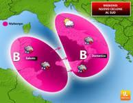 METEO: ciclone mediterraneo in MARCIA verso l'Italia, temporali e forti piogge [VIDEO]