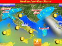 METEO, ecco Fast-Storm, temporali sparsi al Centro-Nord [VIDEO]