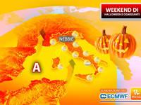 Meteo: WEEKEND HALLOWEEN e OGNISSANTI anomalo! Sarà ESTATE (di SAN MARTINO) con soffio AFRICANO. Gli EFFETTI
