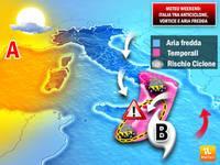 METEO: WEEKEND movimentato tra anticiclone africano, ciclone mediterraneo e sbuffi dai Balcani.Conseguenze