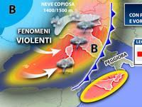 Meteo: WEEKEND con perturbazione e vortice ciclonico. Sabato e Domenica tanta pioggia