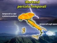 METEO - spuntano i Temporali nel Weekend, il Nord si prepari, e anche gli Appennini [VIDEO]