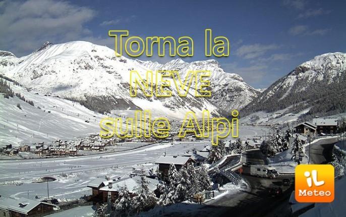 Nuovi apporti nevosi per le nostre montagne