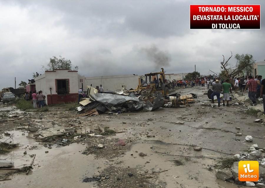 Messico, tornado senza precedenti