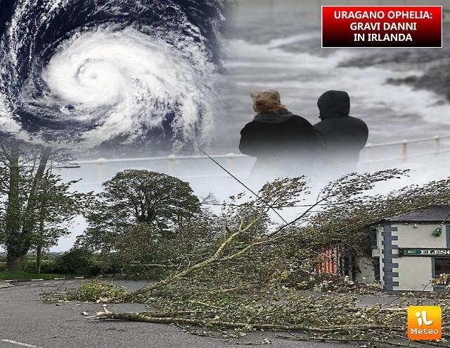 Uragano Ophelia, gravi danni in Irlanda