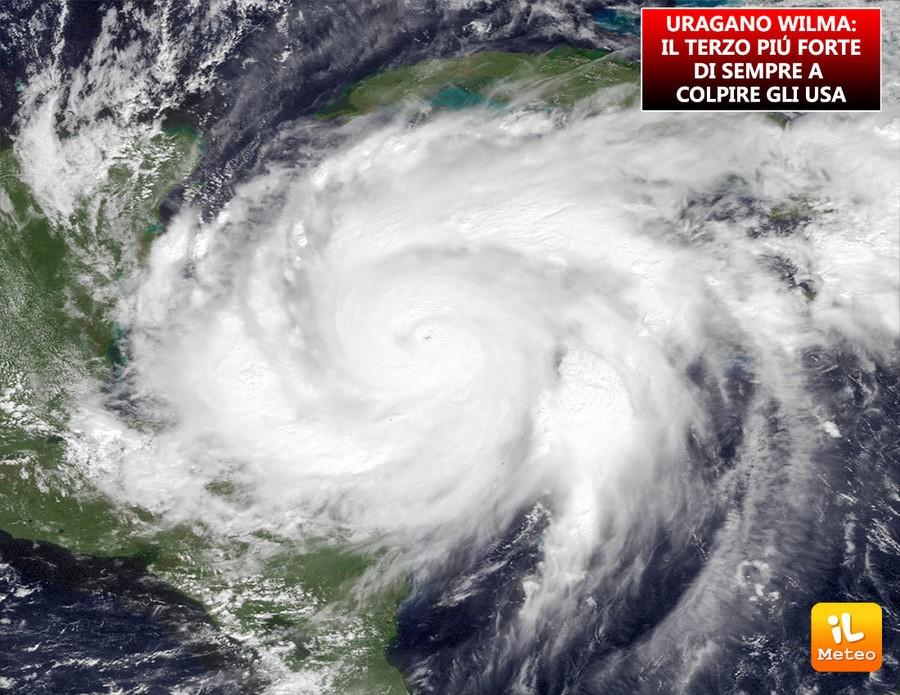 Uragano Wilma, tra i piu' forti di sempre