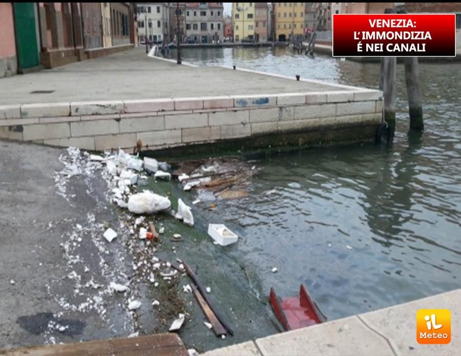 VENEZIA: l'immondizia è nei canali, ambiente a rischio