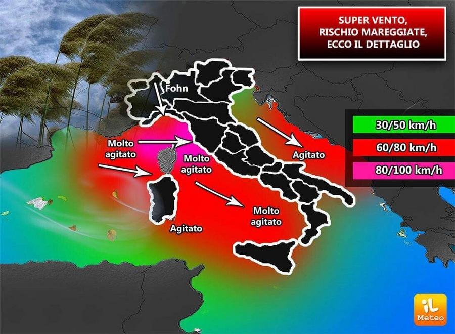 Venti forti sull'Italia