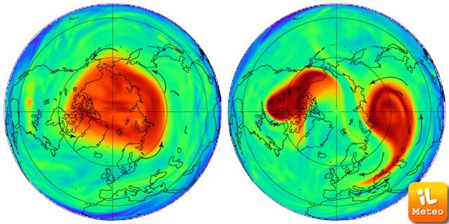 Condizione Vortice Polare Stratosferico nel Gennaio 1985