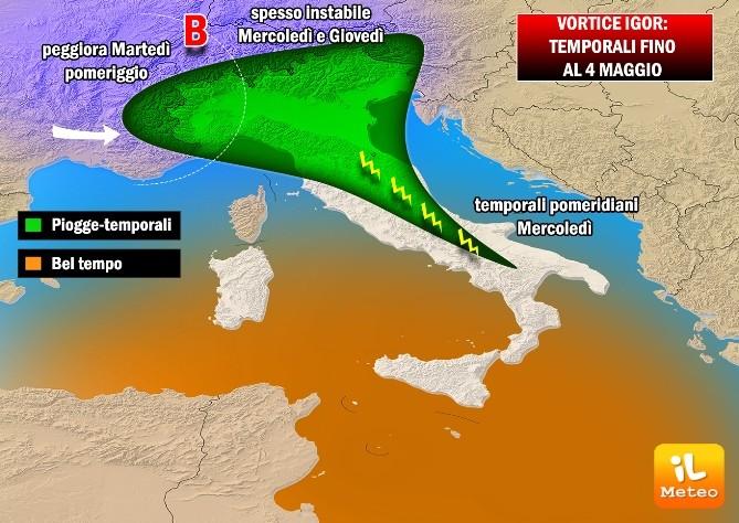 Scoppiano i temporali con il caldo africano in Sardegna