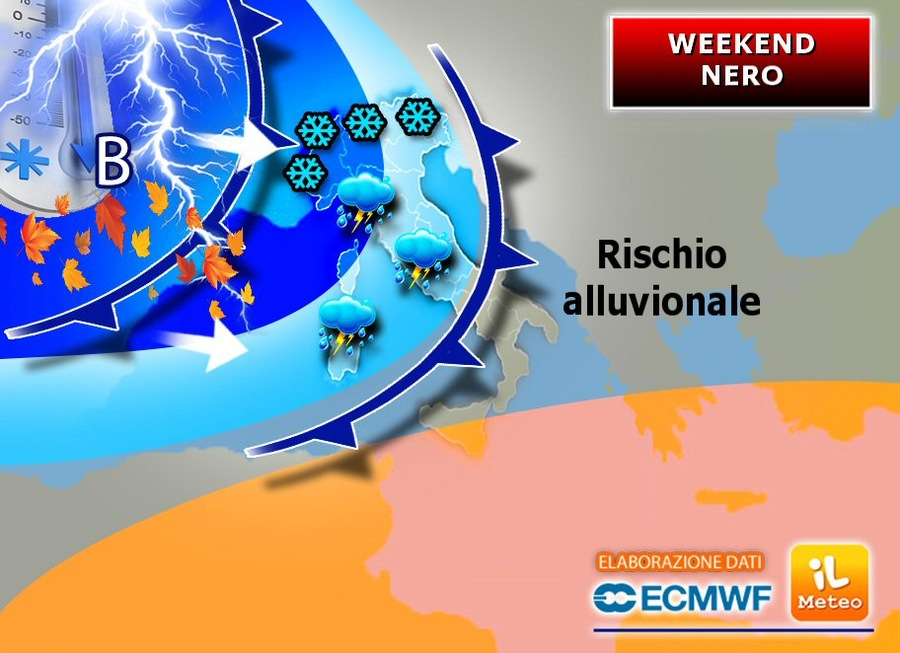 Weekend con rischio alluvionale