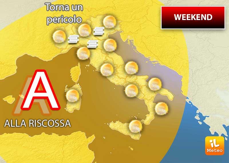 Meteo weekend: miglioramenti su alcune zone dell'Italia, ma arriverà l'alta pressione