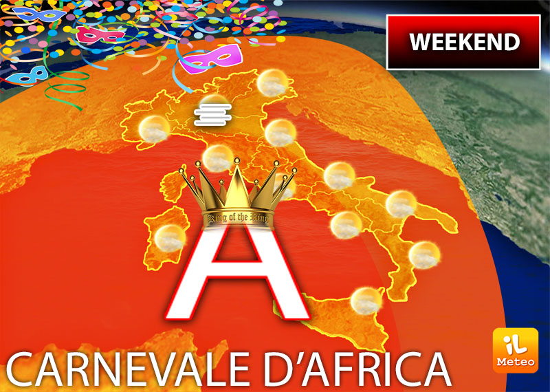 Weekend con l'anticiclone re d'Italia