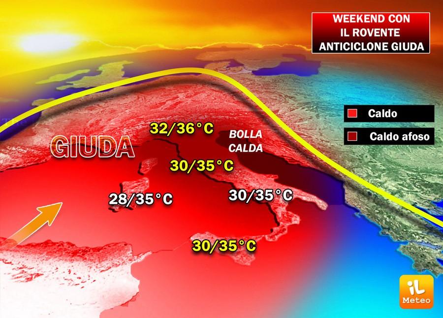 Meteo prossimi giorni: dopo il maltempo torna il caldo africano