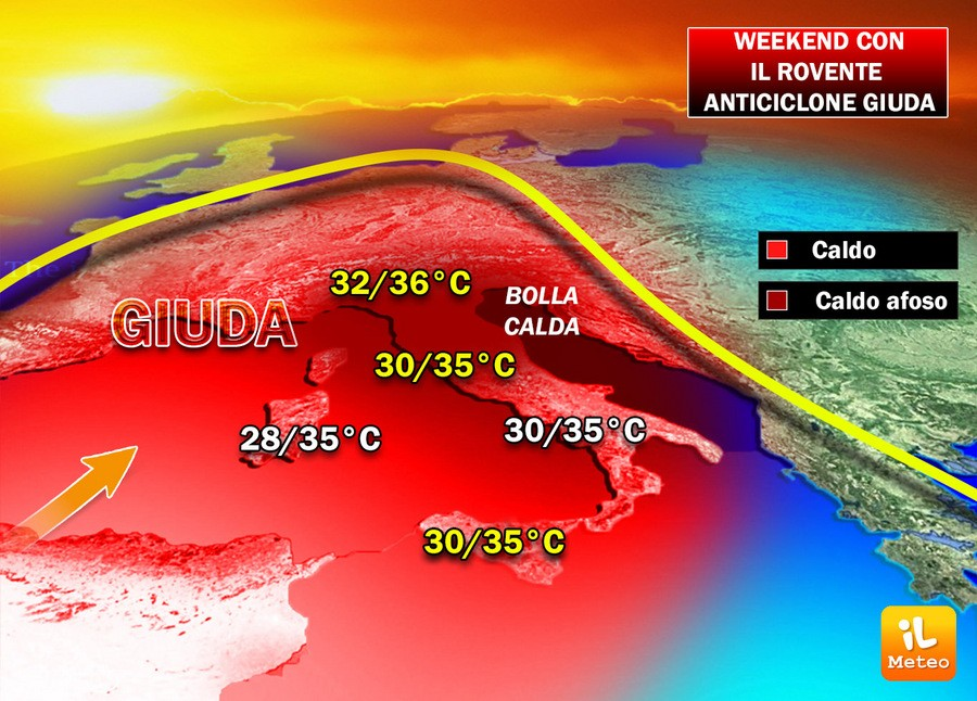 Meteo, si prevede un weekend rovente, temperature fino a 40°