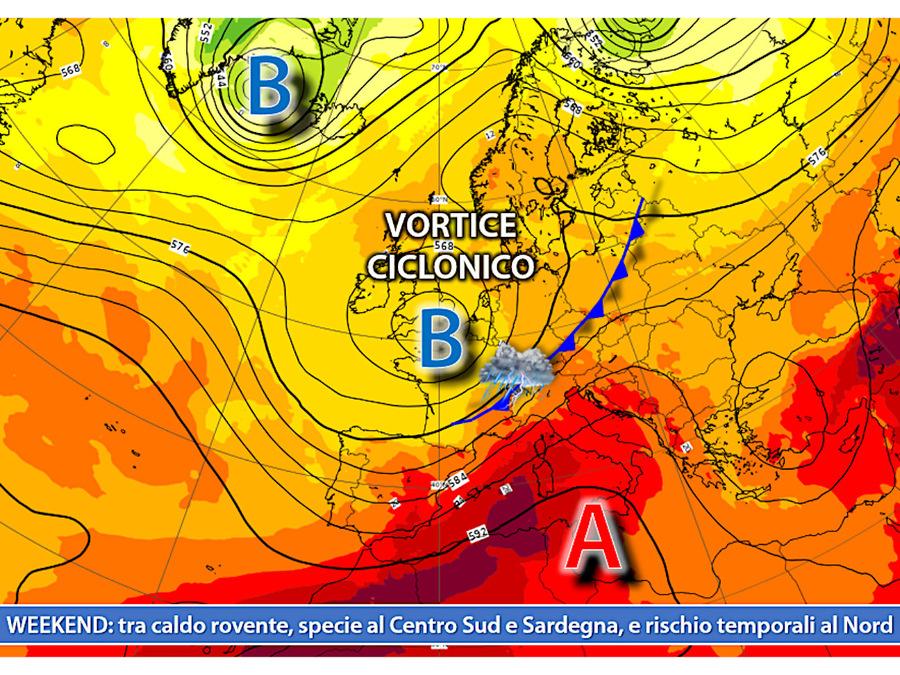Ondata di caldo in arrivo sull'Italia direttamente dal Nord Africa. Temporali al Nord