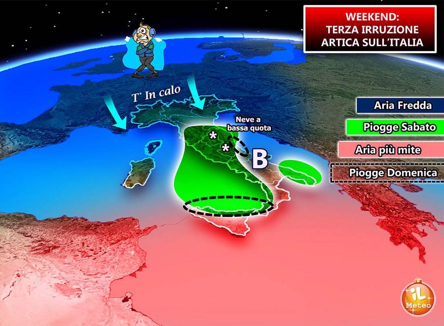 Irruzione di aria artica nel weekend 16-17 Dicembre