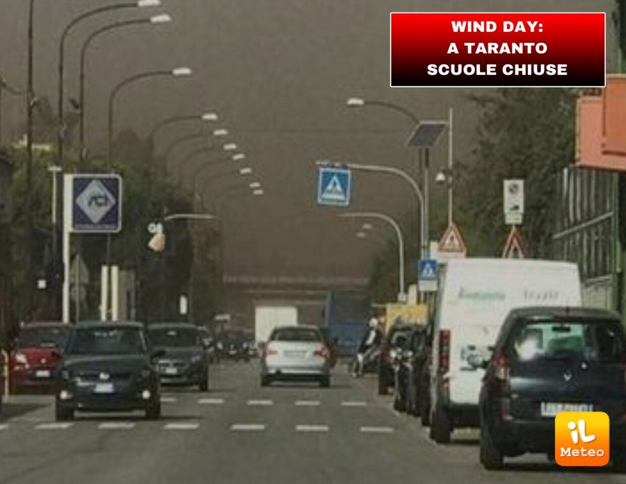 WIND DAY: a Taranto scuole chiuse