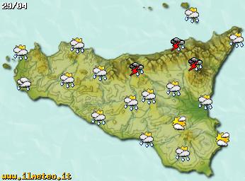 Cartina Meteo Sicilia.Prodotti Web Cartine Statiche Ed Animate Ilmeteo It