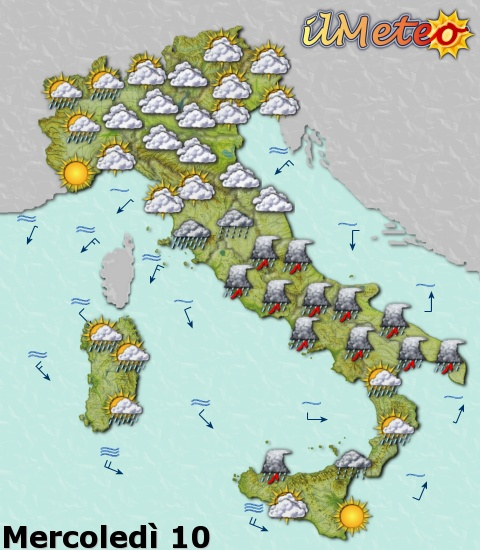 Meteo Cartina Italia.Prodotti Web Cartine Statiche Ed Animate Ilmeteo It