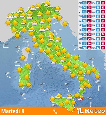 Previsioni ITALIA da ilmeteo.it