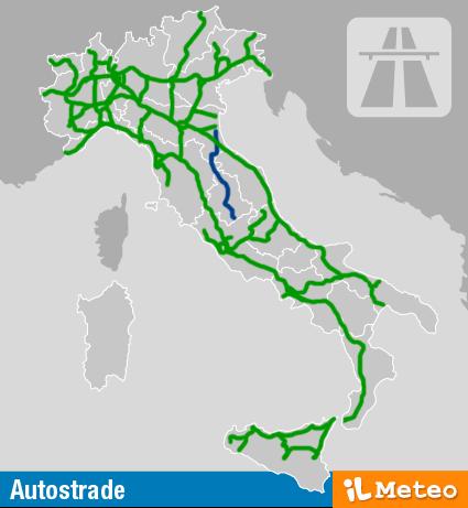 Italia Cartina Autostradale.Meteo Traffico E Viabilita Ilmeteo It
